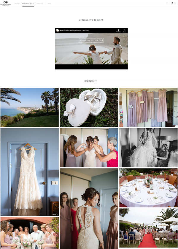 galerie und highlights einer Hochzeit